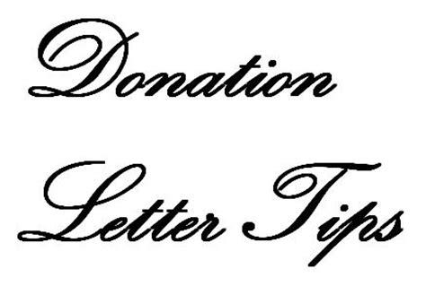 Fundraising Letter Elements Donation Letter