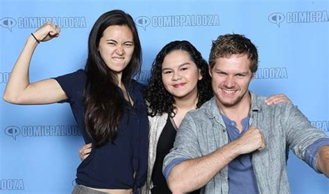 mike colter and finn jones finn jones jessica henwick and mike colter at daily