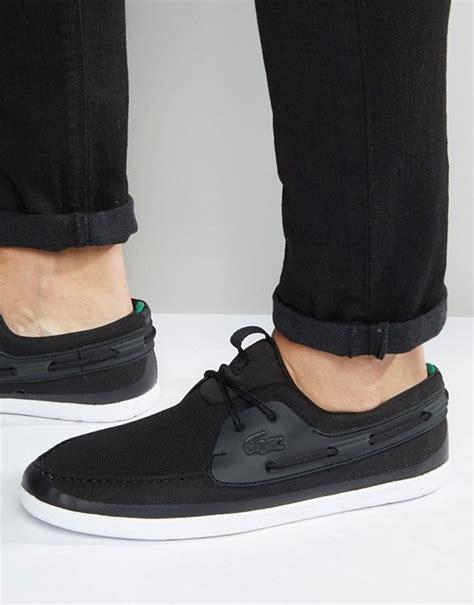 lacoste black boat shoes lacoste lacoste boat shoes