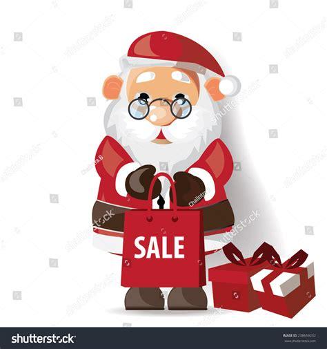 santa claus christmas sale free shopping vector