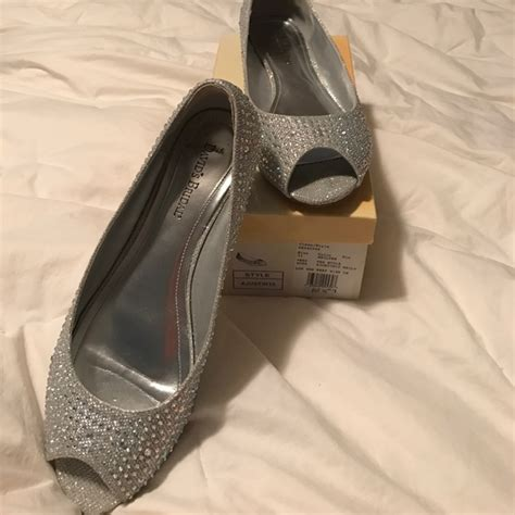 60 david s bridal shoes sparkle gemstone silver