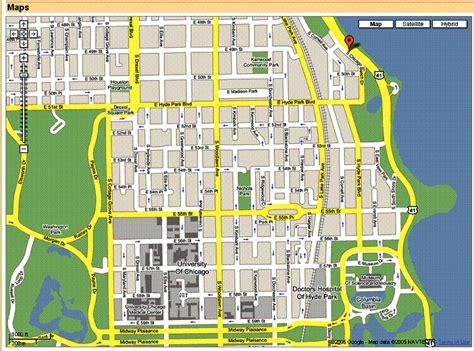 hyde park chicago map hyde park chicago map