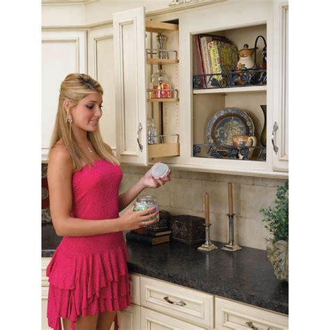 rev  shelf kitchen upper cabinet pull  organizer
