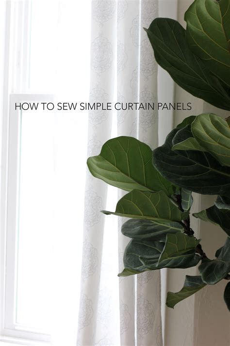 how to sew simple curtains alice and loishow to sew simple curtain panels