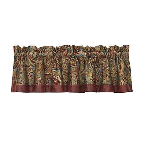 bed bath and beyond san angelo hiend accents san angelo paisley window valance bed bath