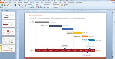 Make A Timeline Powerpoint Template Using Office Timeline Timeline Template In Powerpoint 2010