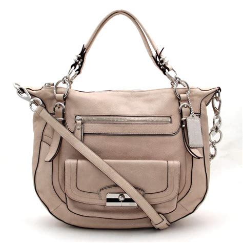 auth coach shoulder bag light pink leather 26146 ebay