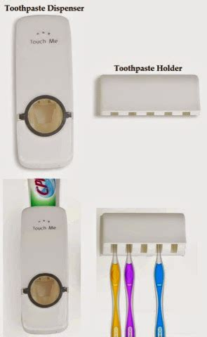 Dispenser Di Pasaran Smart Generation Promosi Touch Me Automatic Toothpaste Dispenser Brush Holder