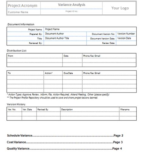 quality log template plan quality templates project management templates