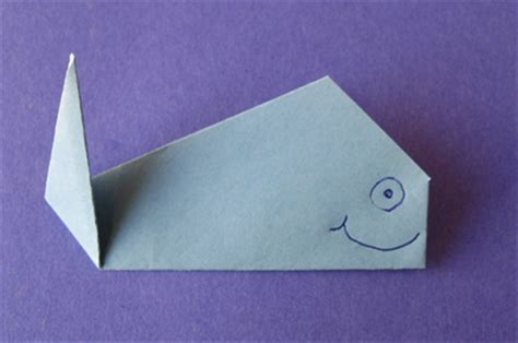 Whale Origami - how to fold an origami whale origami for children