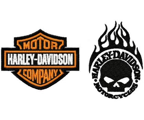 Harley Davidson Designs by Harley Davidson Logo Machine Embroidery Design For Instant