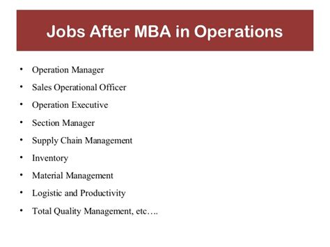After Mba In Marketing What Next by Why Mba Presentation