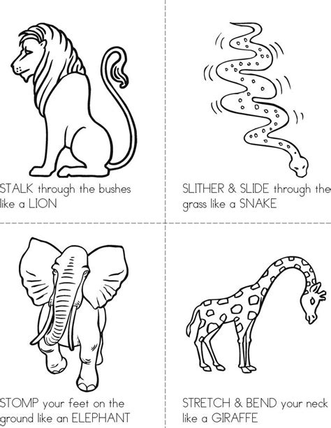 printable animal activity book animal action cards book twisty noodle