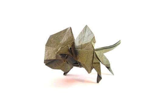 origami frill necked lizards gilad s origami page