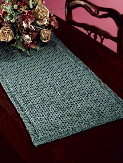 free knitting patterns for table runners free table treatment knitting patterns lattice table runner