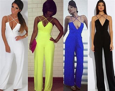 2018 plunge v neck backless wide leg palazzo jumpsuit romper overall