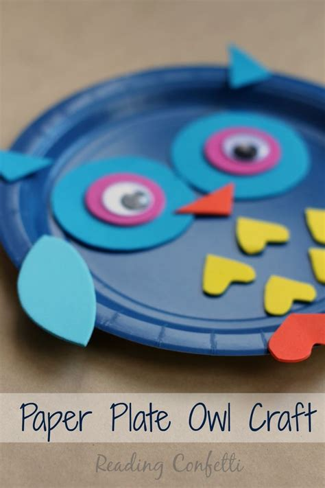 Paper Plate Craft Work - an easy paper plate owl craft work ideas