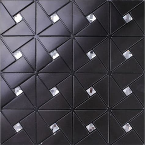 Mosaic Glass Backsplash Kitchen black alucobond tile self adhesive aluminum composite