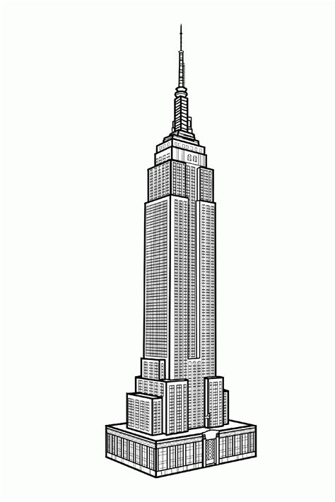 empire state color new york empire state building new york coloring pages
