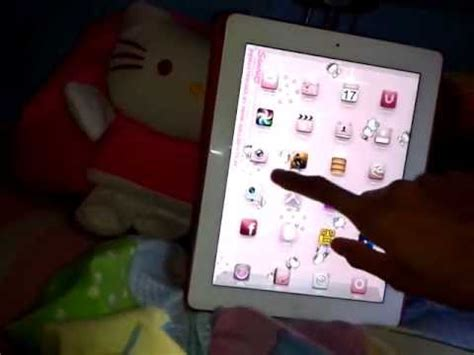 theme hello kitty ipad hello kitty theme ipad 3 jailbreak ios 5 1 1 youtube