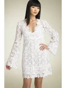 White lace dress with sleeves knee length dresses trend