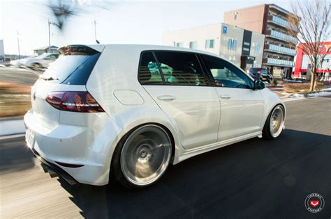 volkswagen japan widebody golf r gets lip concept vossen wheels in japan