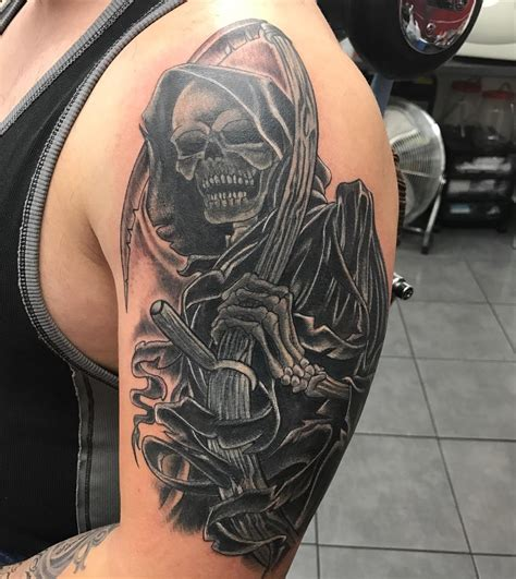 grim reaper tattoo meaning 95 best grim reaper designs meanings 2019