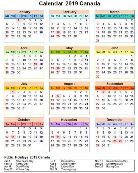 canada  calendar  holiday  page calendar