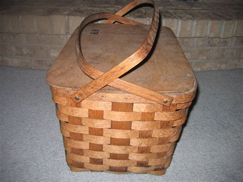 vintage putney basketville vermont hand woven wicker picnic basket item 3031 for sale
