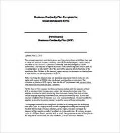 continuity template doc 580580 business continuity templates sle