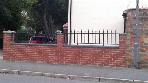 Garden Wall Railings Front Garden Wall Railings Bricklaying In Sunbury