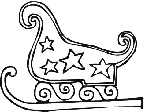 sleigh coloring pages christmas