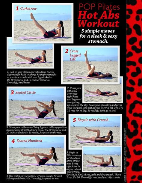 Mat Ab Workout by Abs Printable