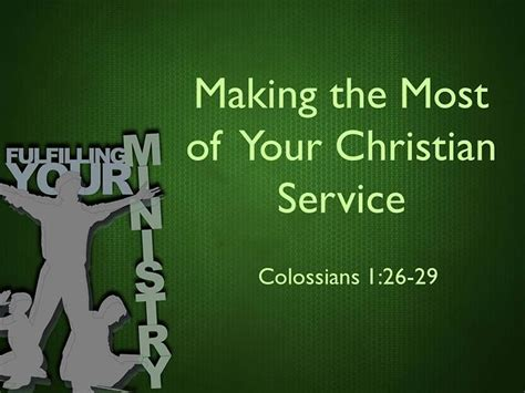 Making the most of your christian service on vimeo