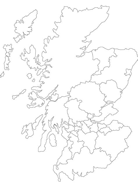 blank outline maps of scotland free printable maps
