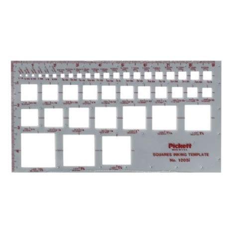 Alvin 1205i Pickett Squares Template Engineersupply Pickett Drafting Templates
