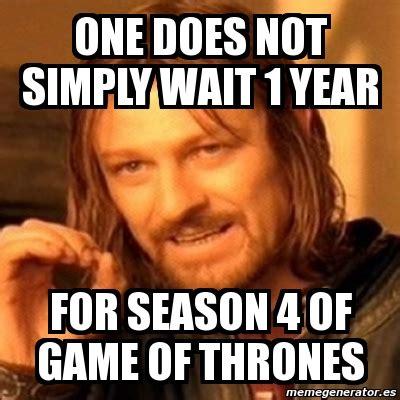 Meme Generator Boromir - meme boromir one does not simply wait 1 year for season