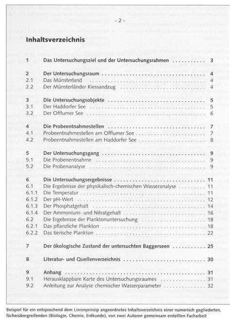Bewerbung Inhaltsverzeichnis Anhang Seminararbeit Auf Englisch