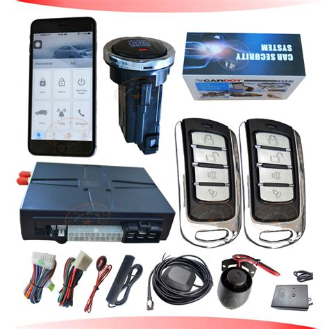 Alarm Mobil Gps gsm car alarm with gps tracking mobile car alarm remote push button start modes sms alarm