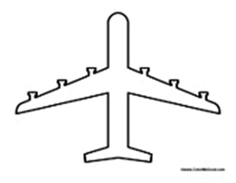 cut out airplane template airplanes coloring pages