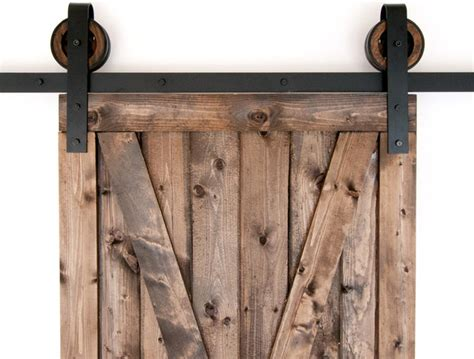 black rustic slide barn door closet hardware set 10ft 2