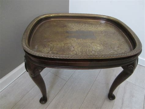 brass tables for sale colonial mahogany brass serving tray table for