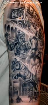 Tattoo of gladiator collage