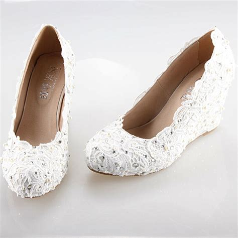 comfortable wedding dress shoes free shipping 2015 new white wedges wedding dress shoes