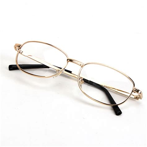 the gold rimmed spectacles penguin fashion bifocal lens rimmed men s reading glasses gold metal frame eyeglasses ebay