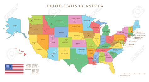 a map of the usa states and capitals color map of the united states with capitals all world maps