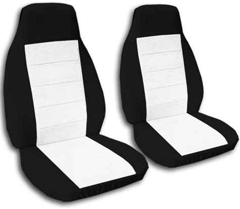 Custom Amp Semi Custom two tone car seat covers front semi custom black amp red