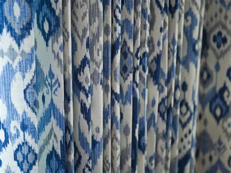 Blue Ikat Curtains Photos Hgtv