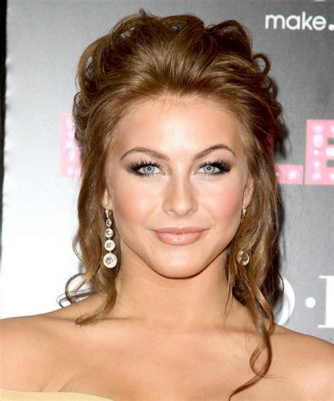 back view of julianna houghs hairstyle julianne hough updo long curly formal updo hairstyle