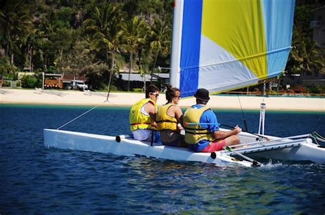 catamaran hire moreton island catamaran briefing at tangalooma resort moreton island qld